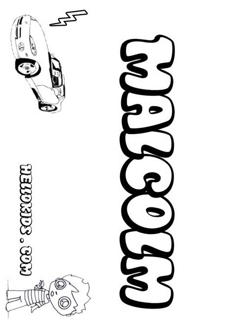 Coloring Pages For Malcolm Malcolm Printable Coloring Malcolm X Coloring Pages