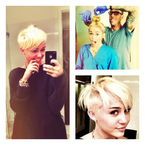 what kind of haircut does miley cyrus have haute or not miley cyrus tweets pics of her new short