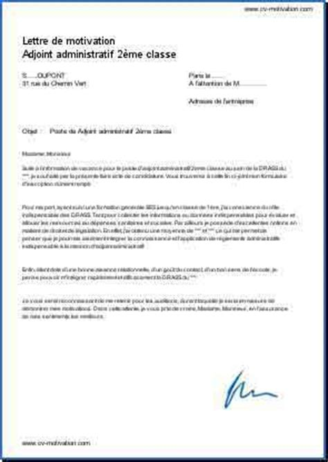 Exemple Lettre De Motivation Administration Publique Lettre De Motivation Adjoint Administratif
