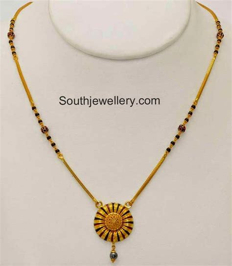 designs of black bead chains black chain with simple pendant jewellery