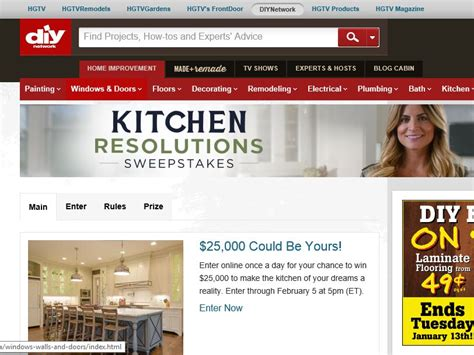 Diy Network Kitchen Sweepstakes - diy network kitchen resolutions sweepstakes sweepstakes fanatics