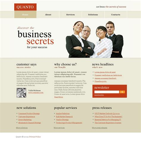 business services template free business services psd website template