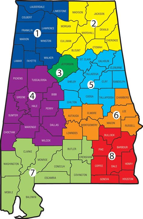 map of alabama counties district map acca