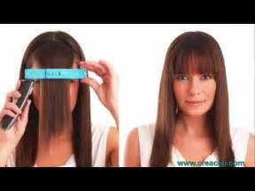 how to cut your hair across the back how to cut bangs tutorial straight textured and side