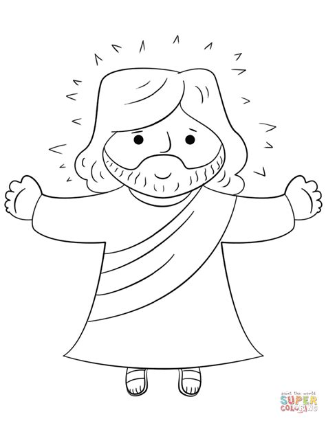 Cartoon Jesus Coloring Page Free Printable Coloring Pages Coloring Pages With Jesus