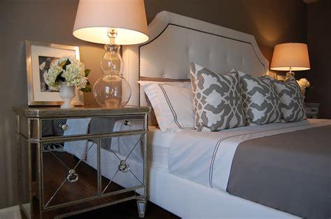 Home Design King Mattress Pad by Mirror Nightstand Contemporary Bedroom Benjamin