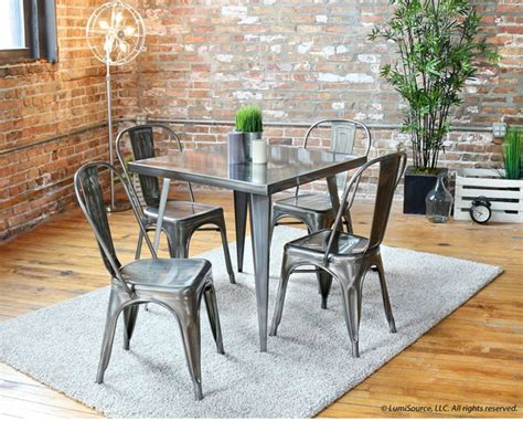 small industrial dining table twenty dining tables that work great in small spaces
