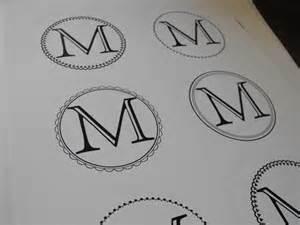 Free Monogram Templates Susie Harris Free Template Labels