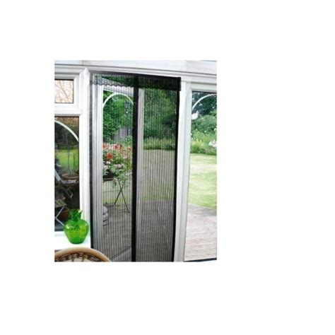 Patio Door Screens Magnetic Black Magnetic Insect Door Screen Curtain Wasp Patio Draught Brand New Gift Ebay