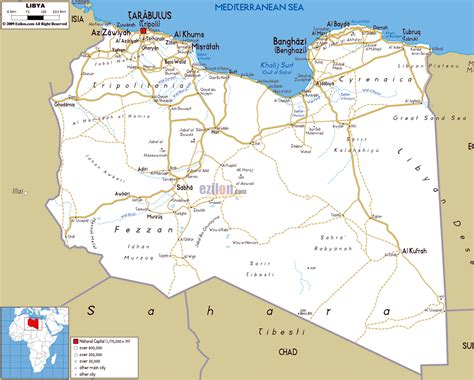 libya map with cities large road map of libya with cities and airports libya