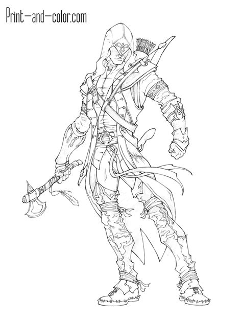 assassin s creed coloring pages print and color com