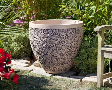 tall flower pots large ornate plant pot large 70cm tall by 81cm wide 163