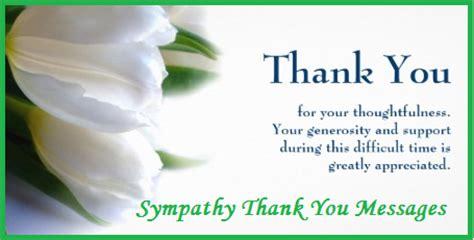 thank you for the comforting words thank you messages sympathy condolence