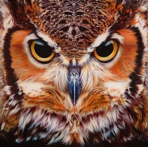 owl colors bubo virginianus great horned owl print limited edition