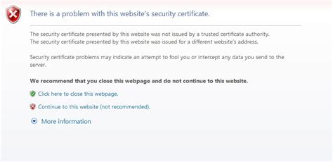 Office 365 Portal Certificate Error Mount Eliza Secondary College 187 Troubleshooting