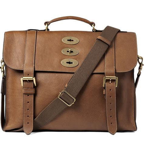 Sachele Brown lyst mulberry ted convertible leather messenger bag in