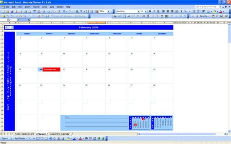 monthly planning calendar template excel monthly planner excel templates