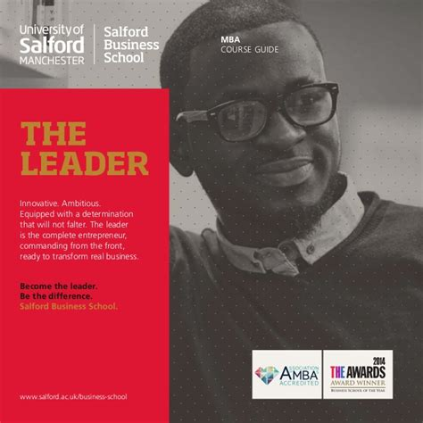 Salford Business School Mba by The Salford Mba Salford Business School Mba