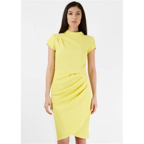 Closet Yellow Dress by Closet Yellow Sleeve Gathered Pleat Dress
