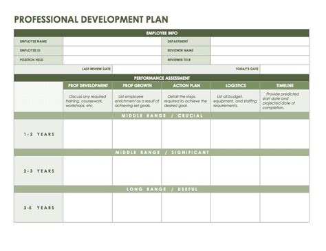 Professional Development Plan Templates Office Business Templates Office Templates And Development Template