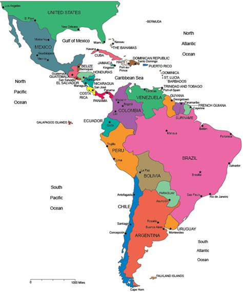 south america map with country names map of south america and central america