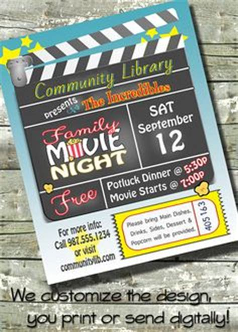 Outdoor Movie Night Flyer Movie On The Green School Poster Fundraiser Church Poster Outdoor Flyer Template