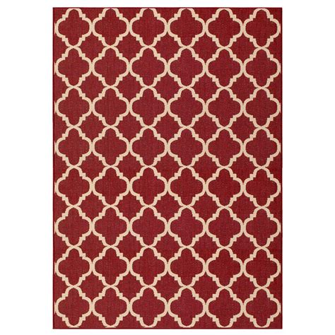 red accent rug hton bay trellis reversible vineyard red 5 ft 3 in x