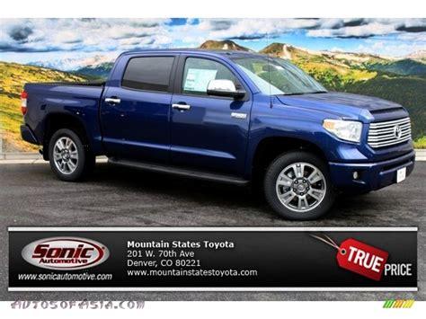 Blue Toyota Tundra 2014 Toyota Tundra Platinum Crewmax 4x4 In Blue Ribbon