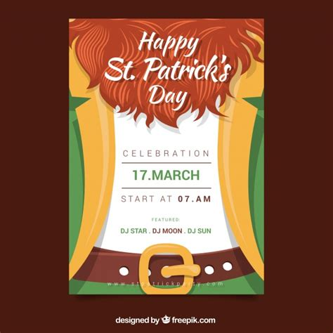 download free st patricks flyer psd templates for photoshop