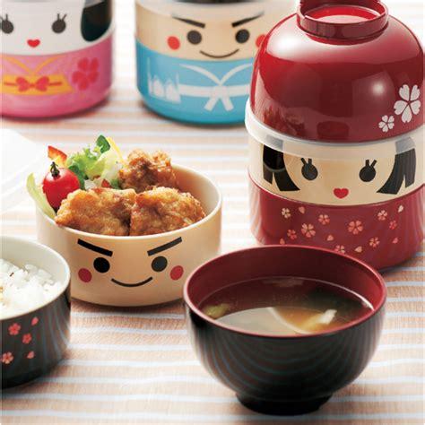 Lunch Box Japan Doll hakoya japanese lunch bento box samurai kokeshi