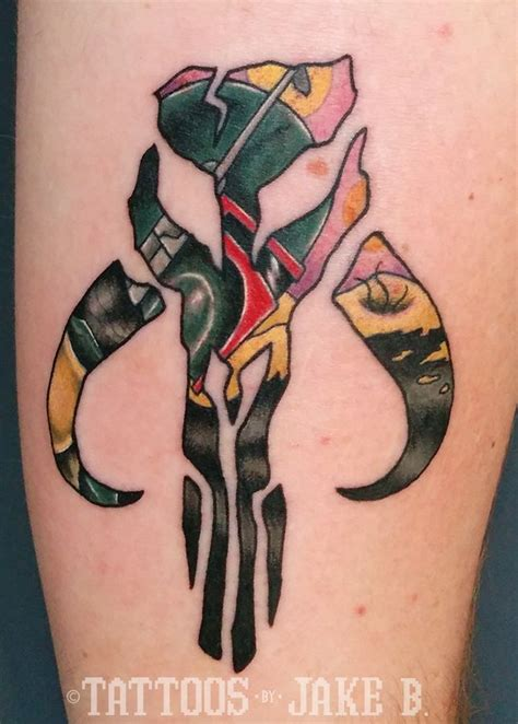 boba fett tattoos boba fett mandalorian crest wars tattoos by