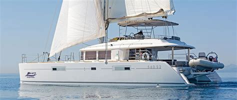 greek island catamaran hire lagoon 560 luxury crewed catamaran greece main 1