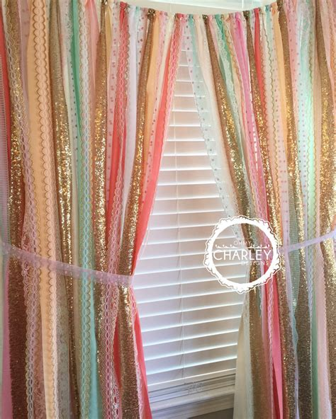 sequin curtain sherbet blends with gold sparkle sequin garland curtain with