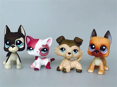 shop for dogs 4pcs set lps dogs littlest pet shop toys figure gift pink cat