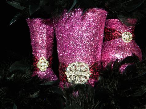 Wedding Centerpiece, Wedding Decorations, Pink, Black