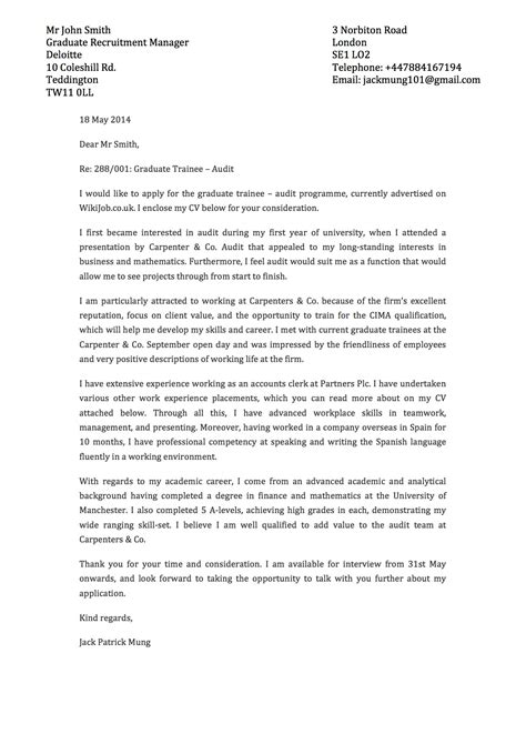 A Cover Letter Template by Templates And Exles Joblers