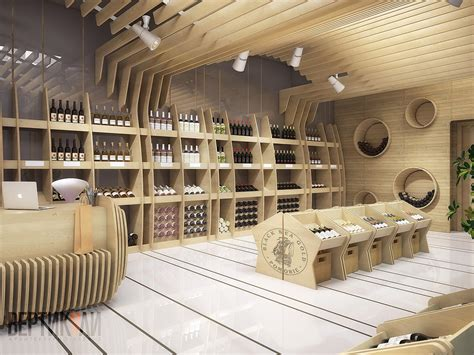 interior and exterior design shop with tasting room of