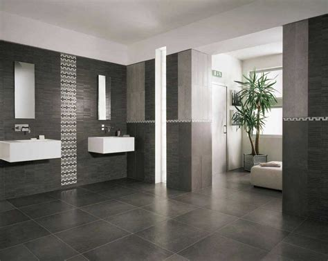 Modern Bathroom Tiles Ideas by Modern Bathroom Floor Tile Ideas With Black Color Home