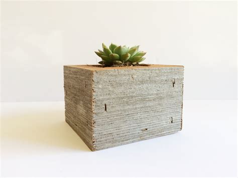 succulent planter box reclaimed wood succulent planter box