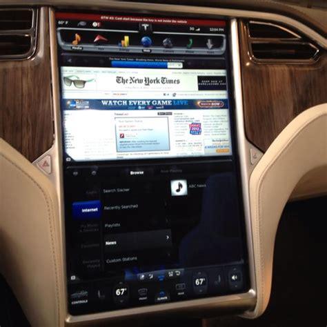 Tesla Model S Dashboard Tesla Model S Dashboard Carzzz Models
