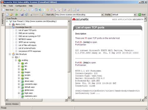 website open port scanner acunetix web vulnerability scanner guardsite