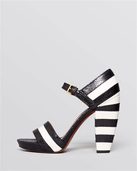 Stripe Heels marc by marc open toe platform sandals