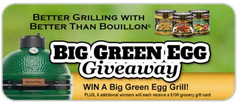 Big Green Egg Gift Card - win a 100 gift card or big green egg package thrifty momma ramblings