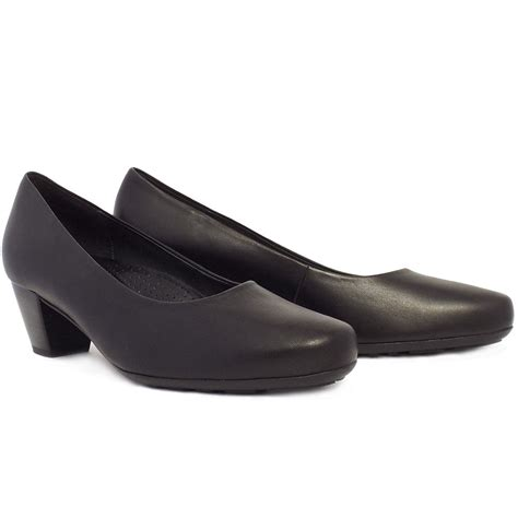 gabor brambling formal comfortable low heel black pumps