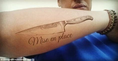 mise en place tattoo the foodies with food tattoos daily mail