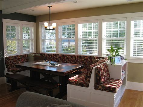Dining Room Nooks Windowed Breakfast Nook Traditional Dining Room Other Metro By Madson Design