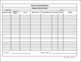 Tool Sign Out Sheet Template by Free Personalized Equipment Sign Out Sheet From Formville
