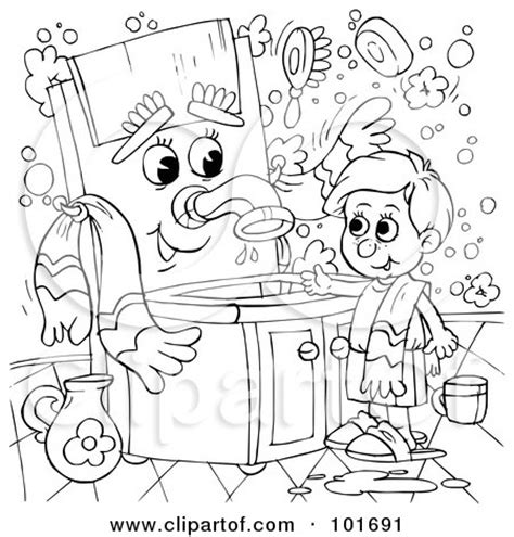 washing hair coloring pages girl washing hair colouring pages