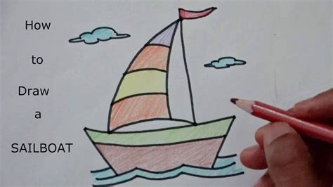 how do you draw a boat easy learn how to draw sailboat youtube