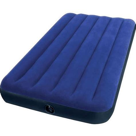 twin blow up bed intex twin classic downy airbed mattress walmart com
